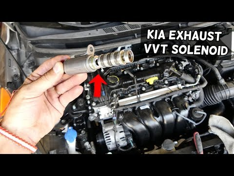 HOW TO REPLACE EXHAUST VVT SOLENOID ON KIA FOTRTE SOUL OPTIMA. Variable Valve Timing