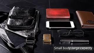 지프 buluo 유명한 브랜드 남자의 슬링 가방 가죽