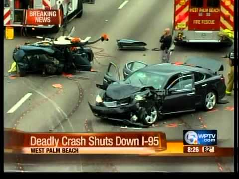 Deadly crash shuts down I-95 north of Okeechobee Boulevard
