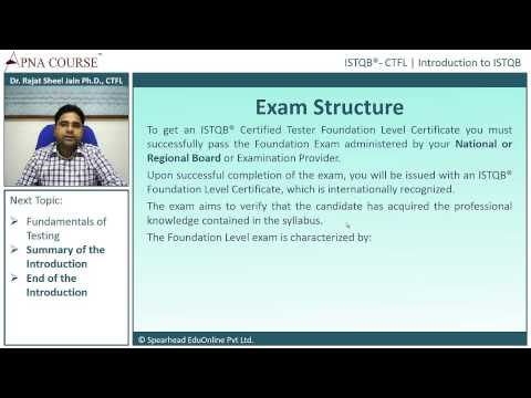 ISTQB - Certified Tester Foundation Level | Exam Structure