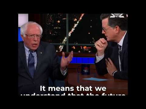 Bernie on Colbert: Our 'Radical' Ideas Are Now Mainstream