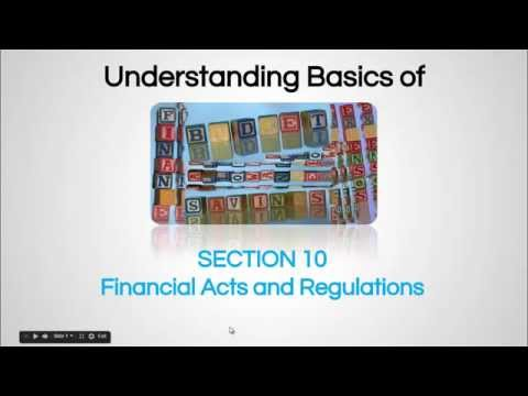 Financial Act  - Finance For Non-Financial Personnel