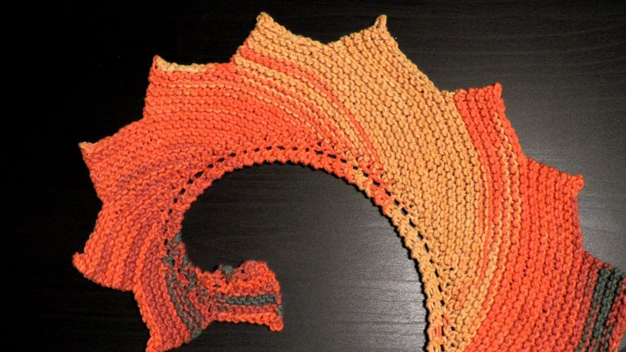 How To Knook A Dragon Tail Shawl Katia Belice For Lefties