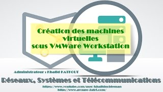 Dans cette vidéo on va voir comment créer des machines virtuelles sous VMWare Workstation... Donc, on va créer et installer : - Windows Server 2012 ...
