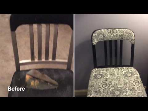 How to Reupholster a Chair | A Metal Chair