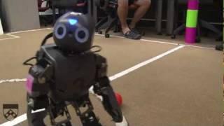 Humanoid Robots Playing Soccer at RoboCup, Part 1 thumbnail