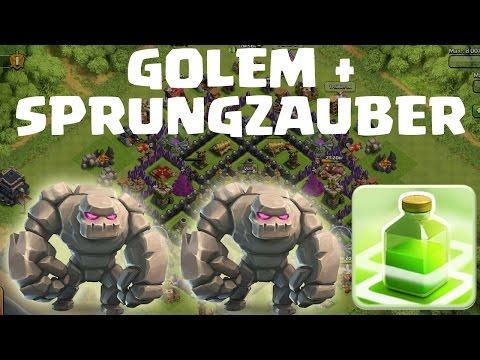 GOLEM + SPRUNGZAUBER!    CLASH OF CLANS    Let's Play Clash of Clans [Deutsch/German HD]