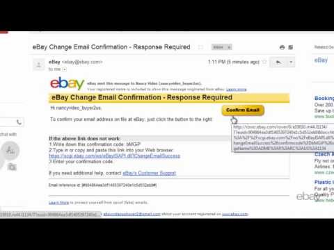 eBay Tutorials: How to change your email address