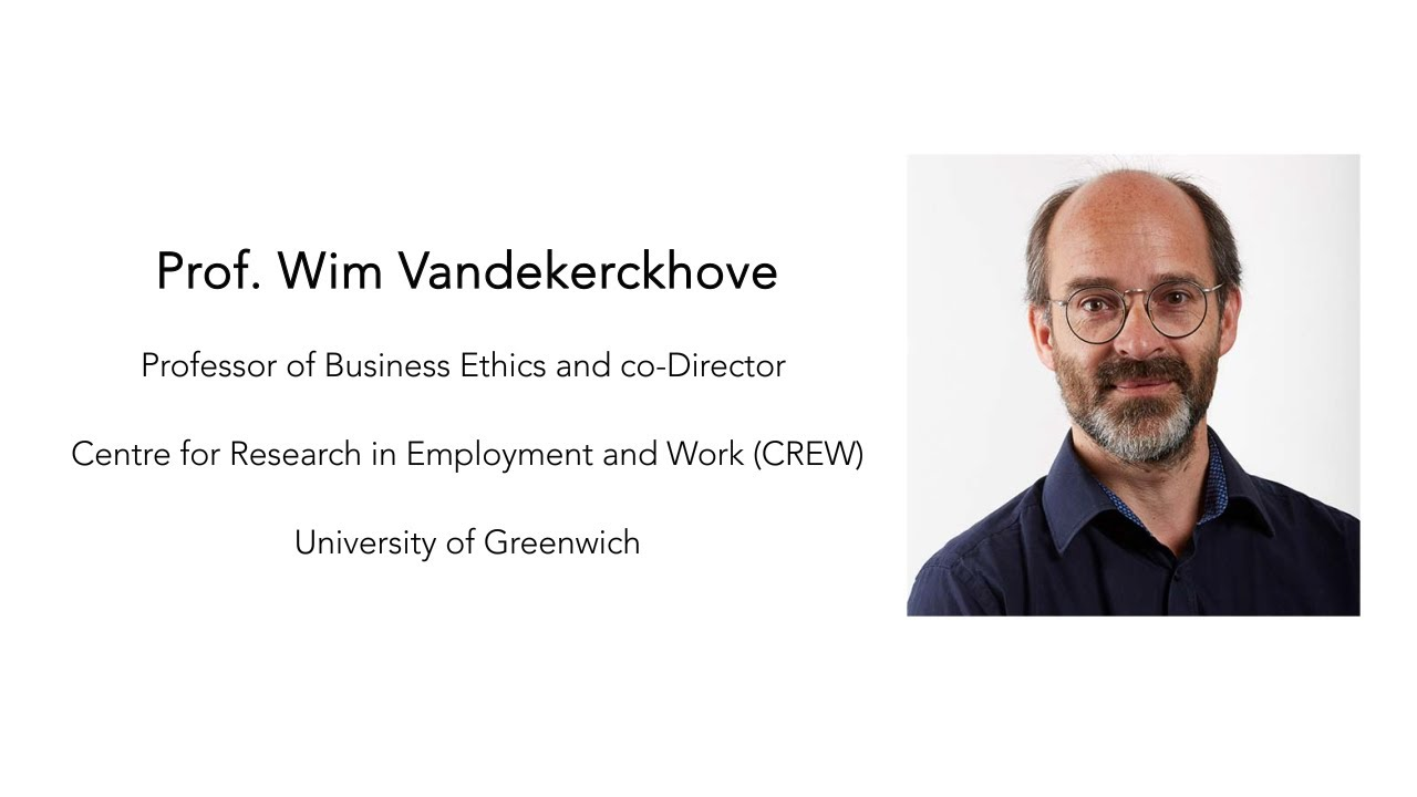 Episode 8- Wim Vandekerckhove- Whistleblowing and Management during the Pandemic