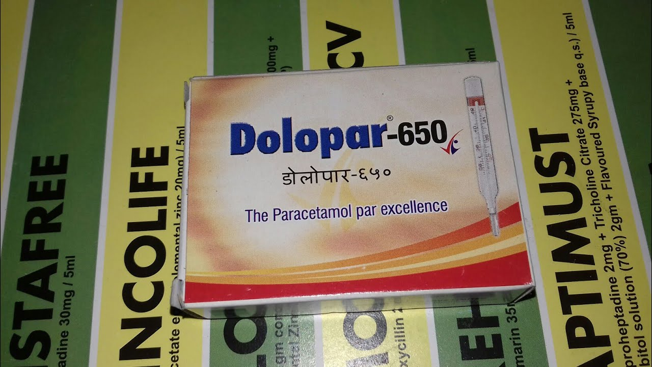 Dolopar 650mg Tablet ब ख र क बह त अच छ द व