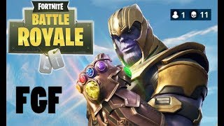 *FGF* First Game Of Thanos Clutch Win (10 Kills Without Thanos) Fortnite Battle Royale