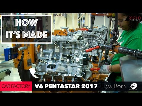 HOW ITS MADE: CAR FACTORY - HOW TO Build a V6 Engine Pentastar