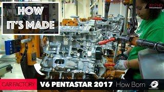 HOW ITS MADE: CAR FACTORY - HOW TO Build a V6 Engine Pentastar