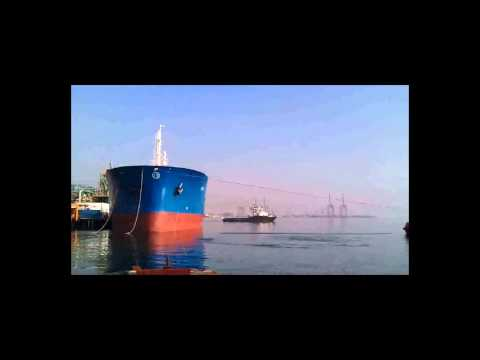 Ship leaving berth