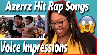 Mom reacts to Azerrz - Hit Rap Songs in Voice Impressions | SICKO MODE, Mo Bamba, Bleed it Reaction