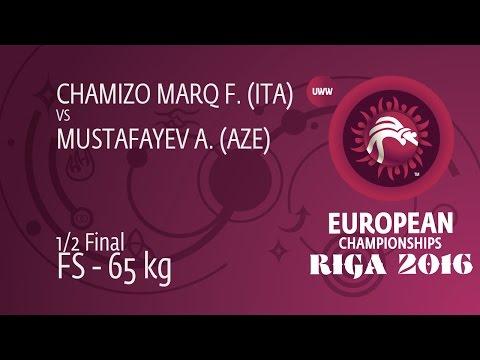 1/2 FS - 65 kg: F. CHAMIZO MARQ (ITA) df. A. MUSTAFAYEV (AZE) by TF, 11-1