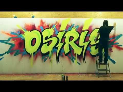 "World-Renowned Graffiti Artist ""RISK"" Does A Mural For Osiris"