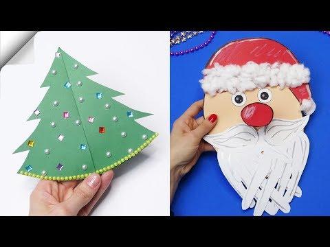 5 DIY christmas cards  How to make christmas card  Christmas card ideas