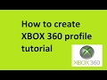 How to create XBOX 360 profile tutorial
