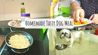 Tasty Dog Meal With Chicken   Homemade Tasty Dog Meal   The Best Healthy Homemade Dog Treat