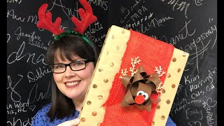 Rudolf Gift Bow Easy and Fun! thumbnail