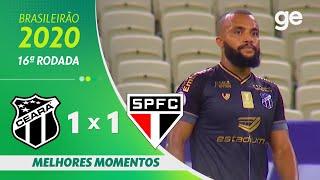 CEARÁ 1 X 1 SÃO PAULO | MELHORES MOMENTOS | 16ª RODADA BRASILEIRÃO 2020 | ge.globo