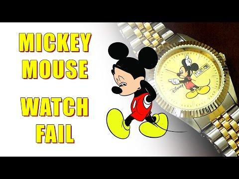 Mickey Mouse Watch Fail - MM0060 eWatchFactory