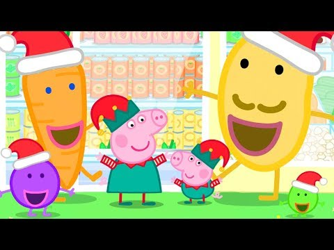 Peppa Pig Official Channel | Christmas Shopping at the Supermarket with Peppa Pig