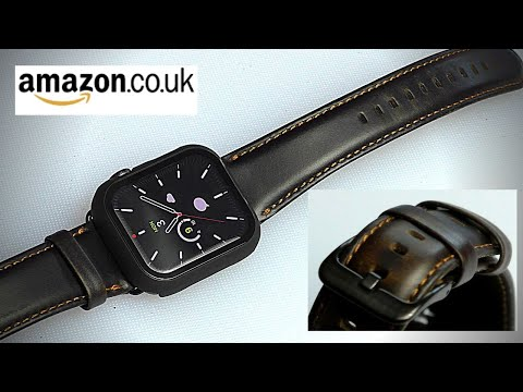 MroTech Genuine Leather Apple Watch Strap Series 1-5 44mm 42mm. Amazon