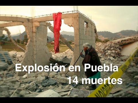 Mueren 14 por explosión en Puebla