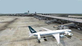 P3D v3.4 Cathay 472 VHHH-RCTP with liveatc PMDG 777-300ER