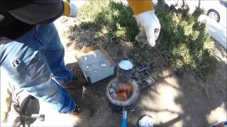 HOW TO MELT ALUMINUM CAR PARTS TO MAKE TOOLS AND PROJECTS OUT OF STYROFOAM W/ A HOME MADE FOUNDRY