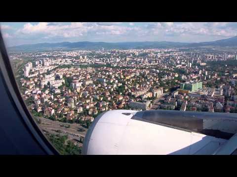 Bulgaria air Airbus 319-100 (LZ-FBB) landing at Sofia Airport.