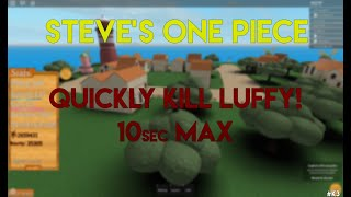 Steve's one piece tip quickly kill Luffy Roblox