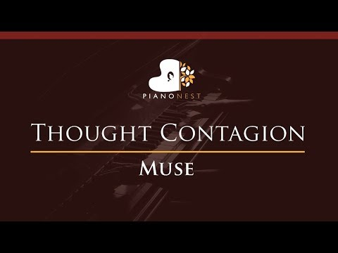Muse - Thought Contagion - HIGHER Key (Piano Karaoke / Sing Along)