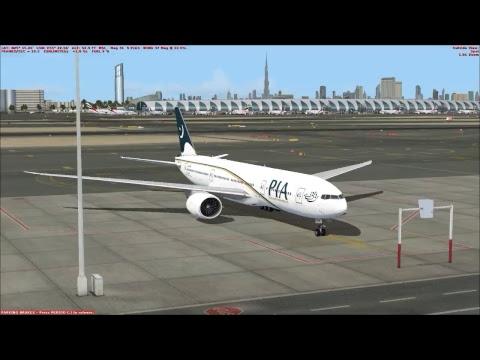 FSX Live - Jinnah Intl (OPKC) to Dubai Intl (OMDB) | Boeing 777 | Pakistan Airlines (PIA)