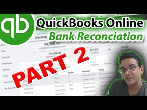 QuickBooks Online 2018 Tutorial: Reconciling the bank account (part 2 of 2)