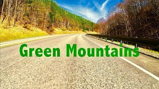 Driving Through Green Mountain National Forest, VERMONT