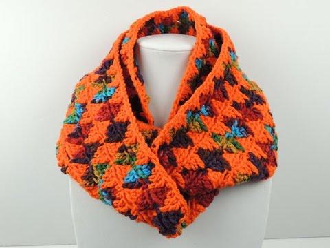 Crochet: Bufanda Infinita en Rombos - YouTube