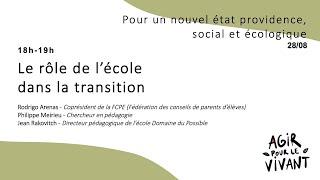 Le rôle de l'école dans la transition