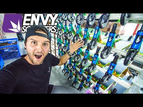 ENVY SCOOTERS FACTORY FULL TOUR!