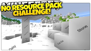 How Far Can You Get In A BLANK World!? | Minecraft No Resource Pack Challenge