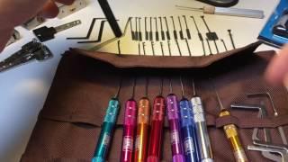 (074) Review - 10 Piece Aluminium Handle Honest Dong Shi Dimple Pick Set