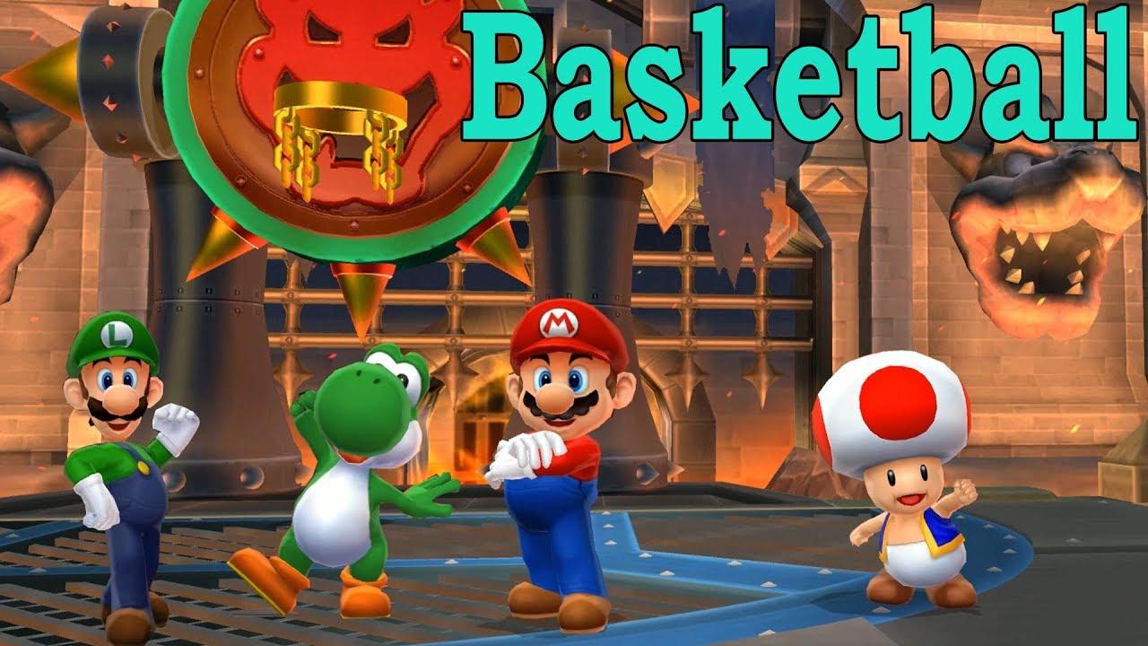 Mario Sports Mix Basketball #13 Mario, Toad Vs Yoshi, Luigi at Bowser's  Castle (Com Hard)