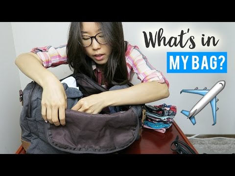 What's in My Bag? What I'm Packing for Korea!