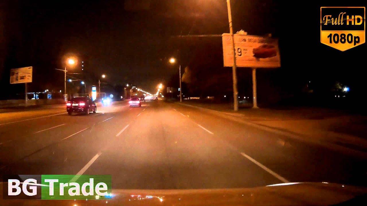 Работа ночью видеорегистратора DOD LS 400W