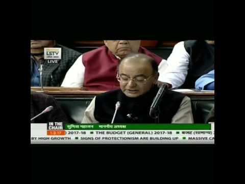 Budget 2017- Arun Jaithley Policy regarding Irrigation