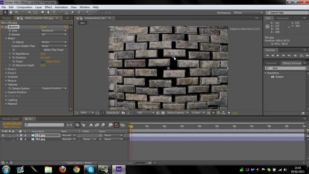 After effects tutorial: break up text shatter motion graphics.