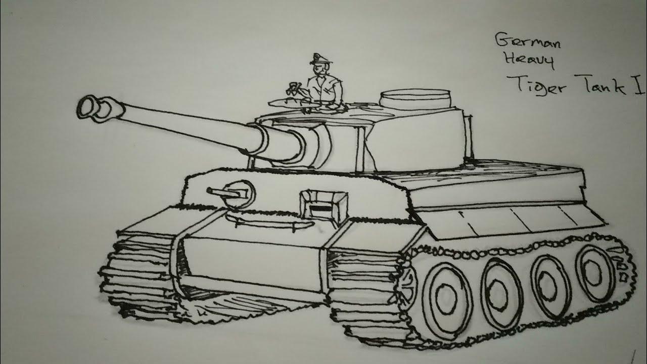 картинки танк тигр карандашом они стали