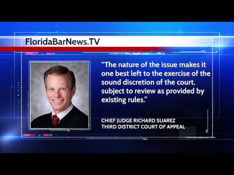 FloridaBarNews.TV - Update #17: New Rule For Special Continuances For Maternity And Paternity Leave?